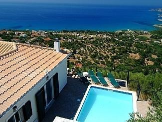 The breathtaking view from the top of the drive. - Villa Ionian View - Vlachata - rentals
