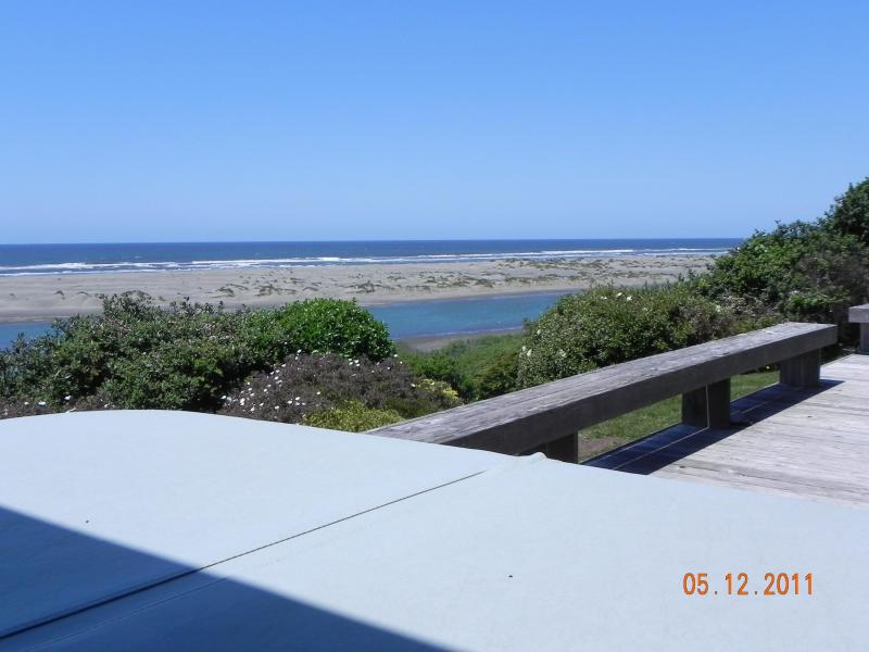 View of the Mad River and the Pacific Ocean from the hot tub - Sea Sights, Soothing Sounds - McKinleyville - rentals