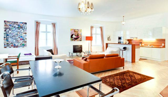 living room from 16th century - 16th Century Landmark - Sonnenfelsgasse! - Vienna City Center - rentals