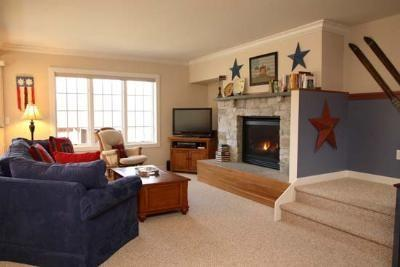 Relax by the fire in the cozy living room - Americana Charm at Luxurious Topnotch Spa Now booking for Christmas and 2014/2015 Ski Season! - Stowe - rentals