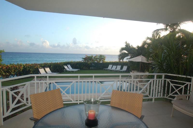 Sea View From Patio - Huge 2 Bedroom Beachfront Condo - St. Lawrence Gap - Saint Lawrence Gap - rentals