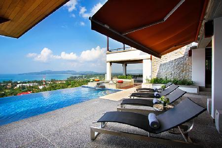 Nestled on a lush hill Yang Som has striking sea views, infinity pool & staff - Image 1 - Surin - rentals