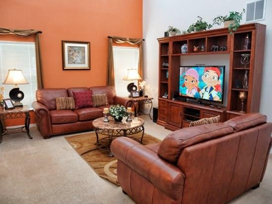 Living Area - EI5P2663EIB Stunning 2-Story Villa in a Kissimmee Resort - Kissimmee - rentals