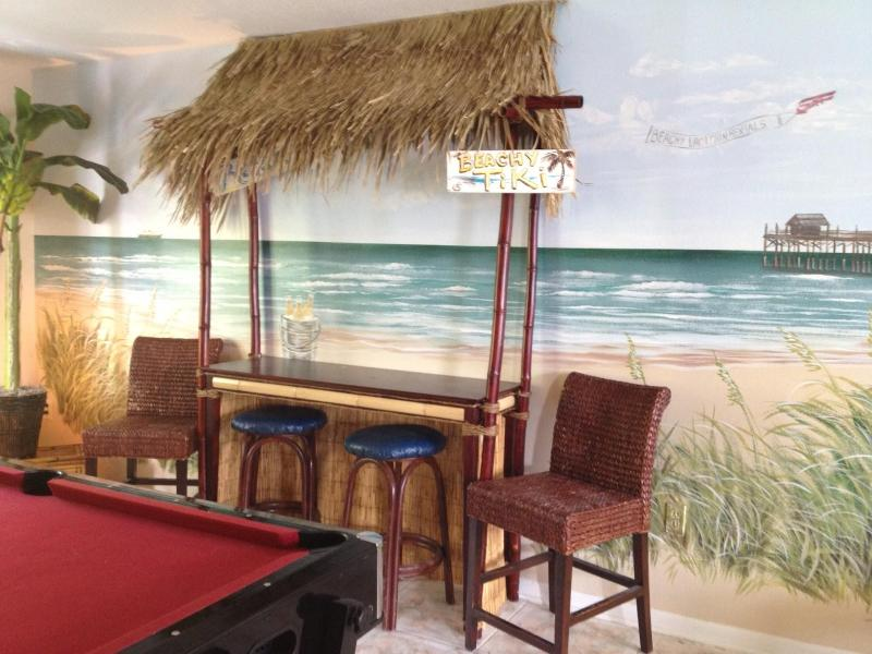 Tiki Bar & Game Room - Sandy Toes & Salty Kisses-Orlando's Beach House-Closest Beach to Disney - Cape Canaveral - rentals