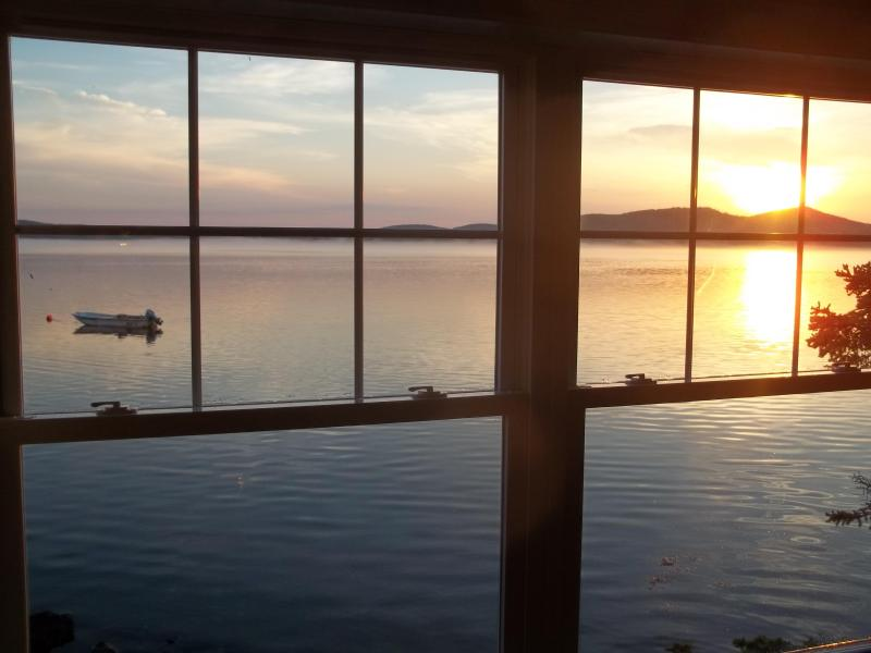 sunrise over Chamcook Mtn. in Canada - The Captain's Cabin - Robbinston - rentals