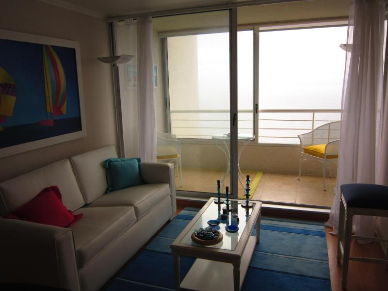 Living room - Reñaca, view of the Pacific - United States - rentals
