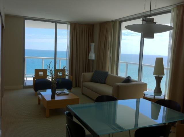 living - Marenas R. two bedrooms Ocean view or Ocean Front - Sunny Isles - rentals