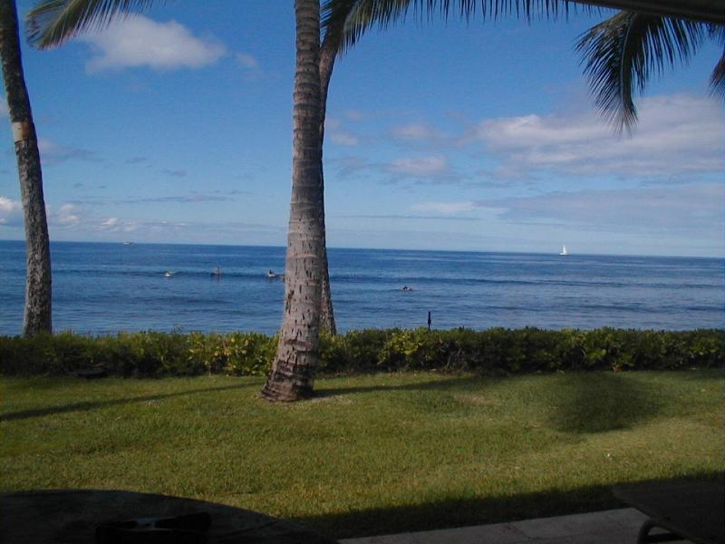 VIEW FROM YOU LANAI - Puamana - Lahaina Luxurious Ocean Front 3 Bedroom - Lahaina - rentals