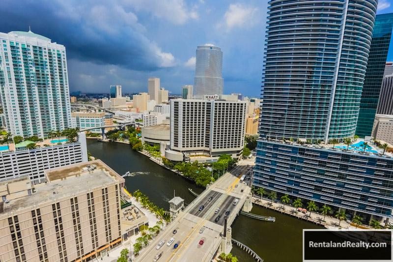 View from Balcony - 1 BR at Viceroy IconBrickell  3603 - Miami - rentals