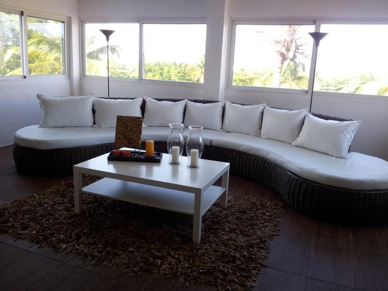 comfortable lounge furniture - Penthouse with roof terrace , sleeps 6, - Puerto Plata - rentals