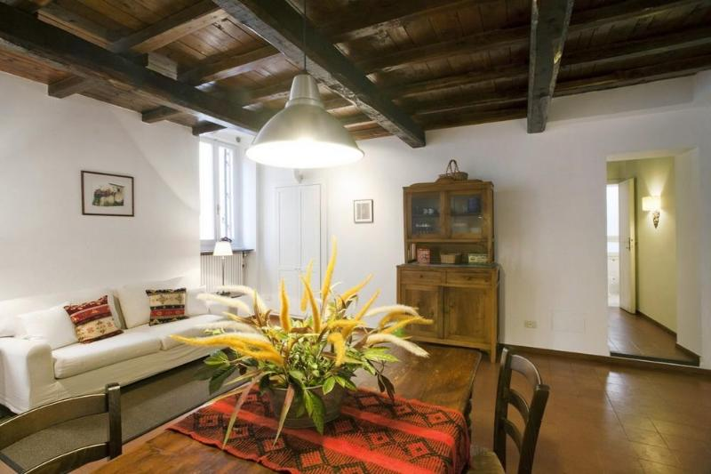 Living room - A spacious and charming apartment in Trastevere - Rome - rentals