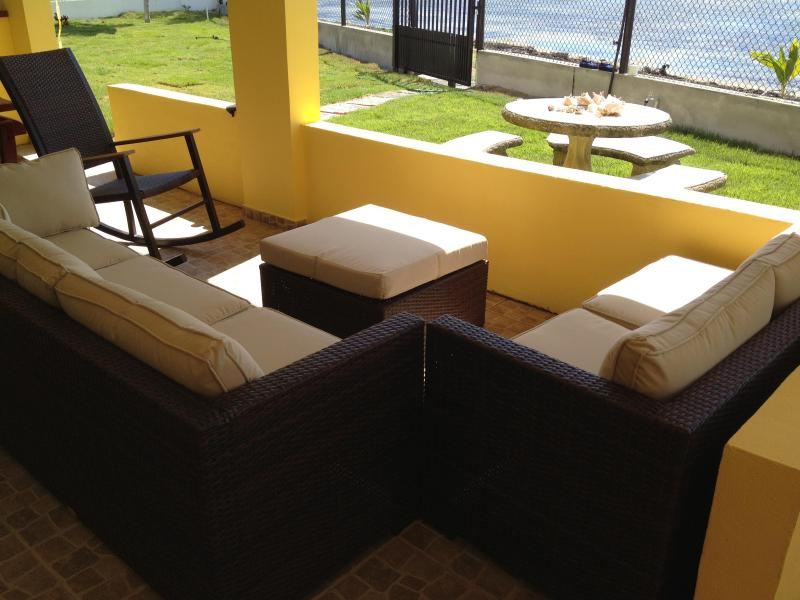Terrace with the beach only steps away - Tropical Paradise on Private Beach, Rio Grande, PR - Rio Grande - rentals