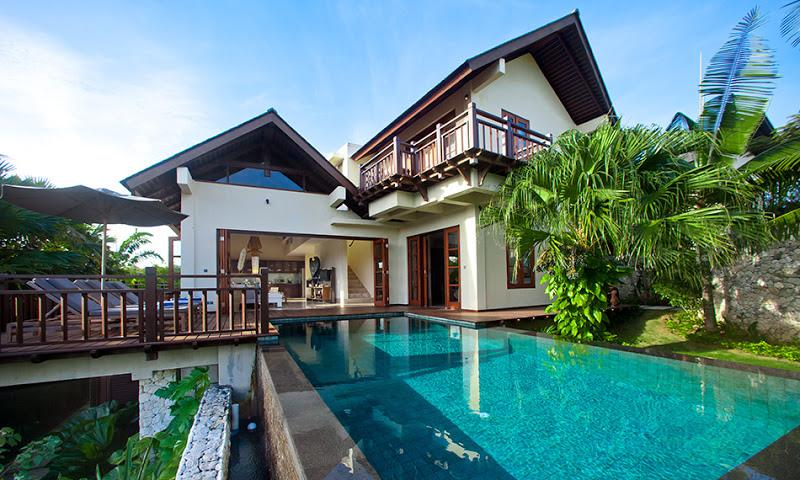 Exterior of Villa Karma Cantik, swimming pool,deck with sun bed - Private villas in Karma Kandara estate w/beach access - Ungasan - rentals