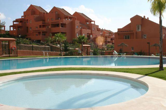 View on our apartment from the pool area - Spacious 1 bedroom apt. with breathtaking seaview - Utrera - rentals