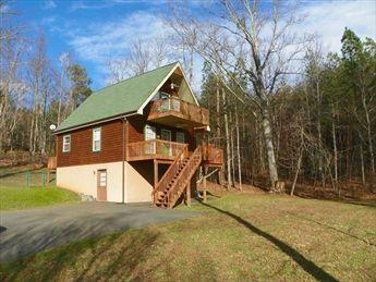 Side and front view - Peaks Landing - Lake Lure - rentals