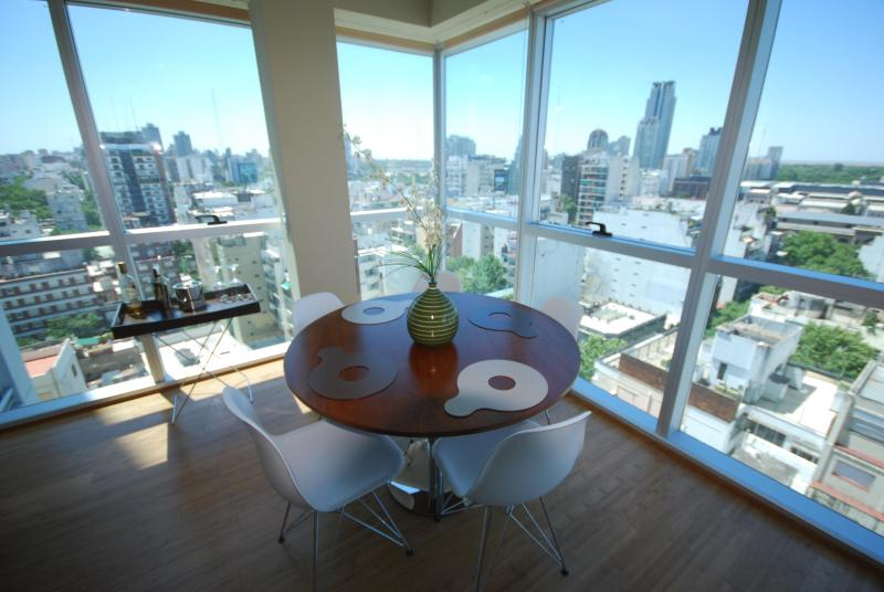 The great view from dining area  - Buena Vista -Luxury Palermo high-rise with amazing River View - Buenos Aires - rentals