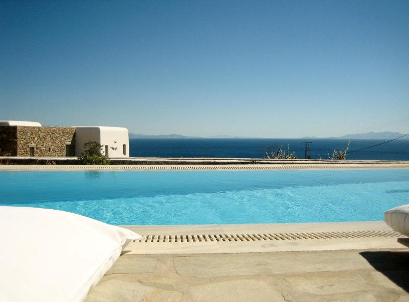 Sea view from pool - Villa with amazing sea view- private swimming pool - Mykonos - rentals