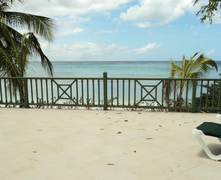 The tranquil Caribbean sea as seen from our deck at Sea Haven. - Sea Haven Apartment 1 - Fitts Village - rentals