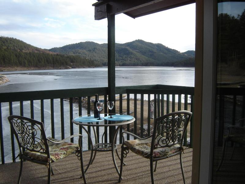 The view from your private deck - Black Hills Lake Front Vacation Rental - Black Hills and Badlands - rentals