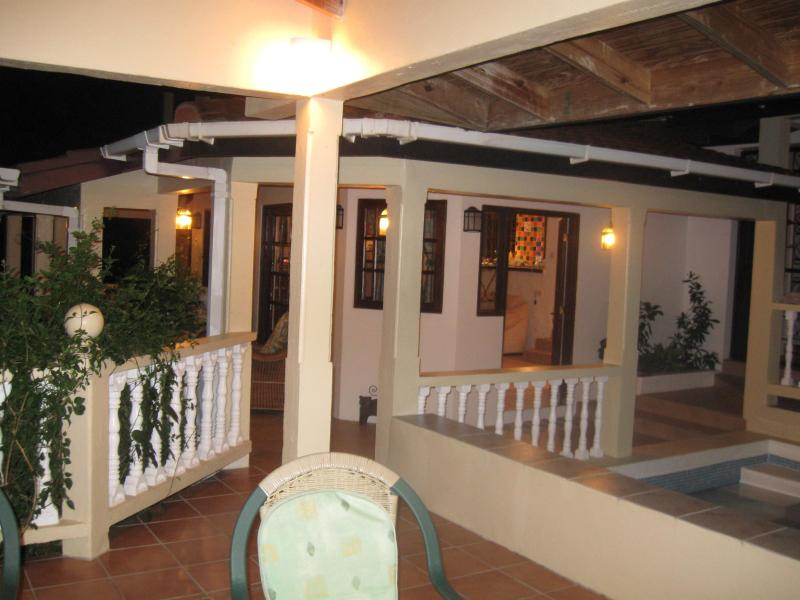 Our home from the terrace at night - Sunset Haven, Cap Estate, St Lucia - Cap Estate - rentals