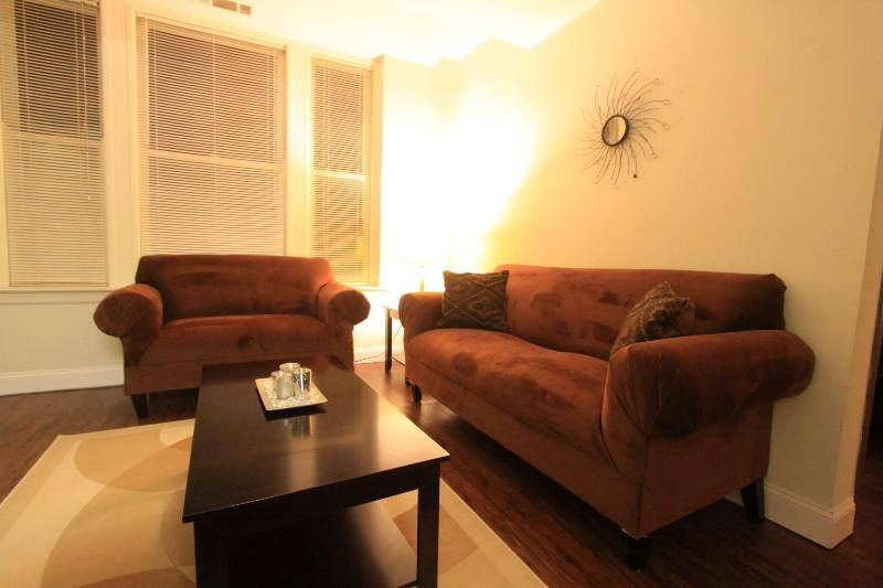 Living room with cable and tv - 2BR Apartment Centrally Located Downtown Memphis - World - rentals