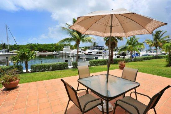 Patio with outside dining - Lovely marina view at Kawama ~ Villa 13 Key Largo - Key Largo - rentals