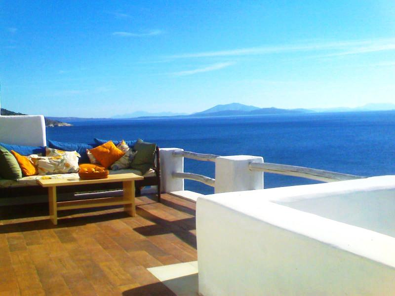 Water front terrace - Away from it All... a 5-Bedroom 5-Bathroom, Seafront Traditional Villa - Naxos - rentals