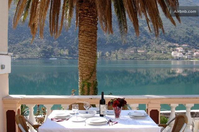 Terrace - Waterfront Villa with Apartments Terrace - Kotor - rentals