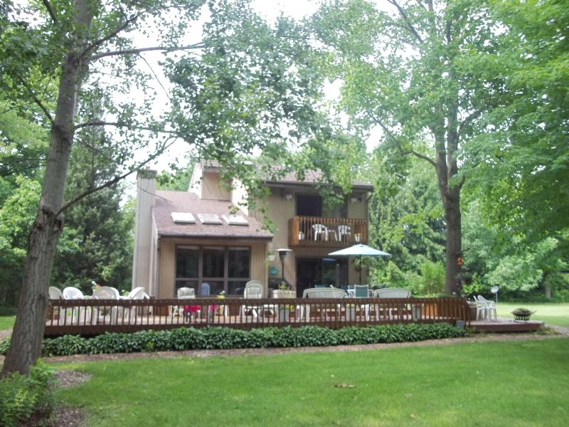 View of Entire Deck - Breath Taking Sunset Views at this Secluded Lot Across from Lake MI - South Haven - rentals