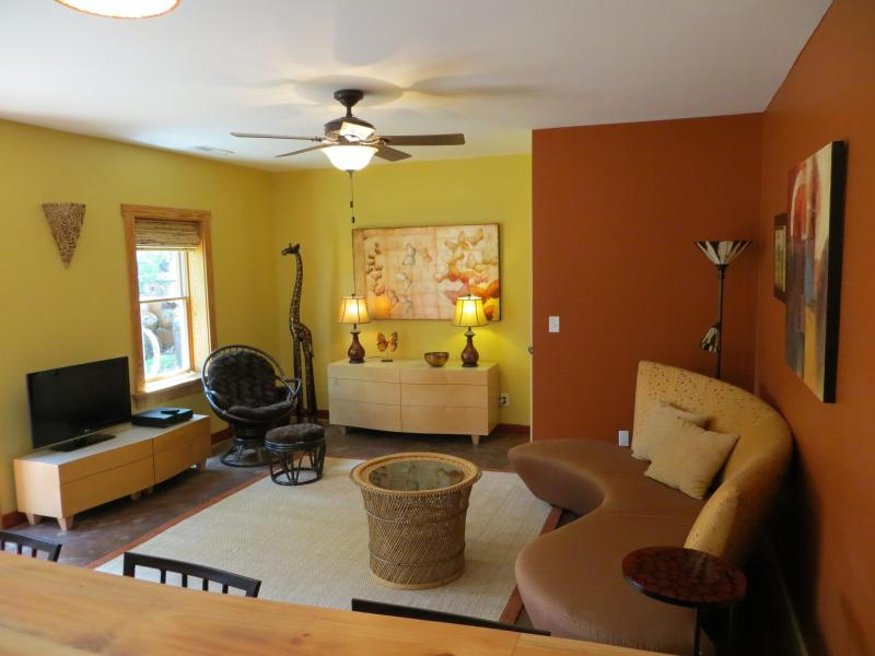 Spacious, open floor plan. 3 southern windows, 2 eastern exposure in the open space - Beautiful West Asheville Apartment! - Asheville - rentals