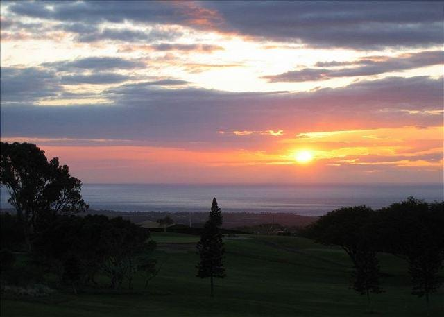 View from Lanai of Sunset - #WF A309 - Waikoloa Fairways A309 - Waikoloa - rentals