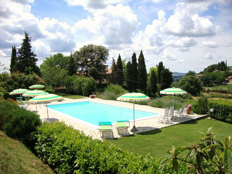 the pool - Apartment In Farmhouse in Casole d'Elsa with Garden and Pool - Casole D'elsa - rentals