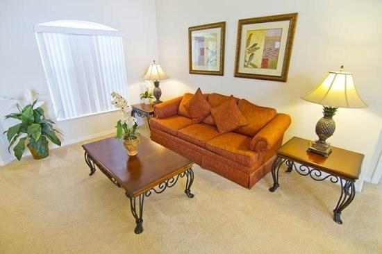 Living Area - OT4P15915RHL 4 Bedroom Vacation Home with Elegant Furnishings - Clermont - rentals