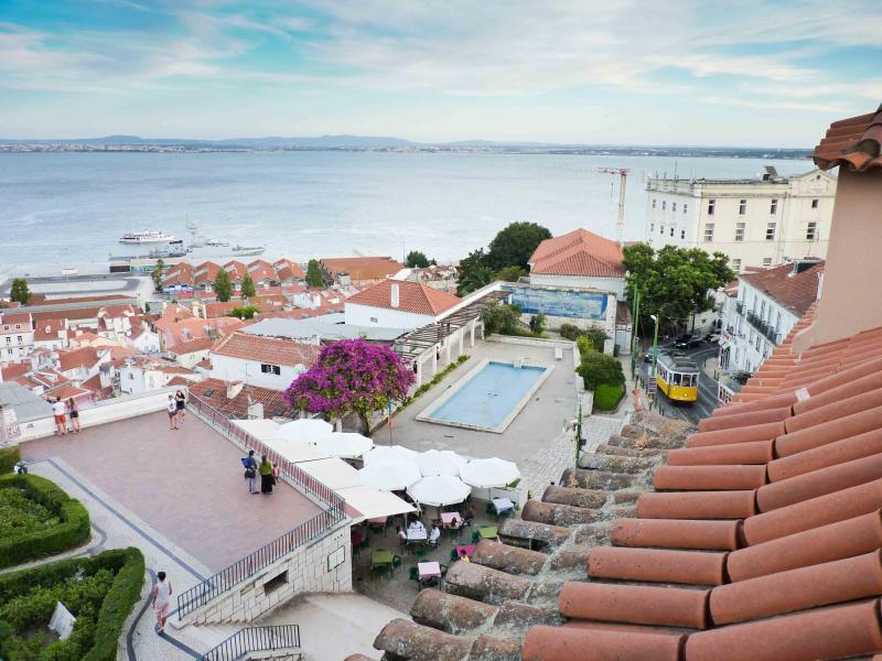 View from Bedroom 1 - Tram 28 - Perfect View over Alfama - Lisbon - rentals