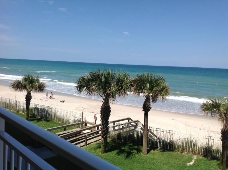 Direct Oceanfront view from Private balcony - Direct Oceanfront. Extra Large Balcony. Renovated - Indian Harbour Beach - rentals