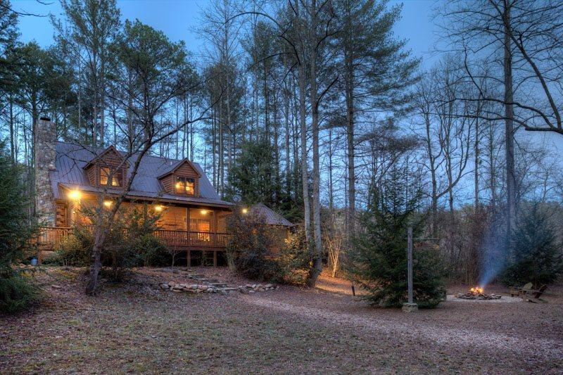 Two Brook Lodge at dusk - Two Brook Lodge - Ellijay GA - Ellijay - rentals