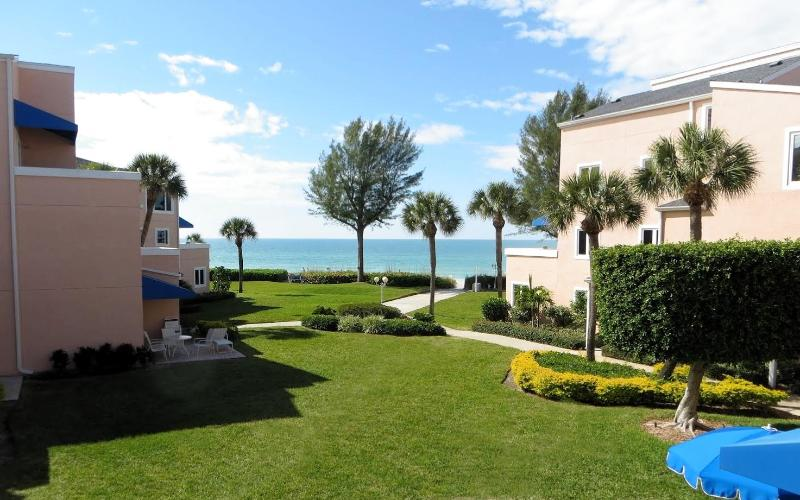 View from Patio to the Gulf of Mexico - Beautiful Updated Condo at Sand Cay Beach with Great Ocean Views - Longboat Key - rentals