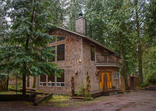 Custom built lodge with Hot tub, out door fire and horse shoe pit. - Eagle Falls lodge - Rhododendron - rentals