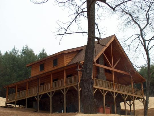 A New Outlook - A New Outlook-Upscale Log Cabin_hot tub_air hockey_private_near river_gas frpl_ - West Jefferson - rentals