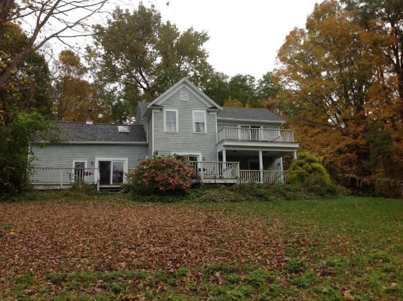 View from meadow  - Charming, secluded 1860's farmhouse - Lenox - rentals