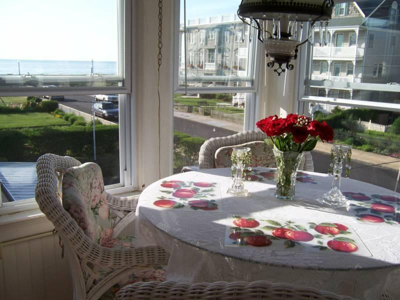 View from dining area - Lovely oceanview apt. just 3 houses to the beach! - Ocean Grove - rentals