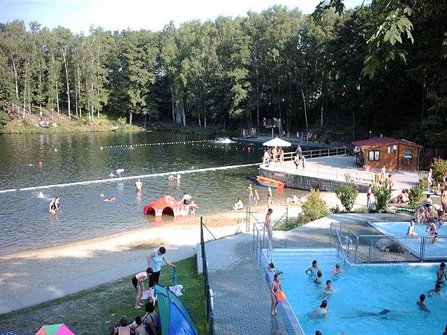 The lake and the swimming as seen from the garden - House for rent in Frohburg Germany near Leipzig - Frohburg - rentals
