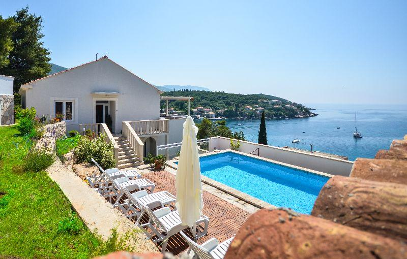 Seafront villa with amazing sea views and private pool - Image 1 - Molunat - rentals
