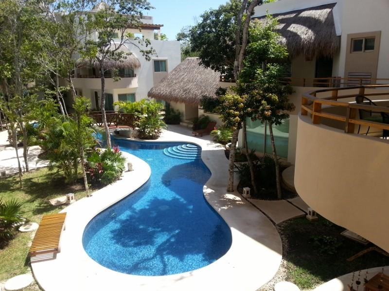 This is the view from the front entrance and balcony of Mariposa Azul - Luxury New Condo - Mariposa Azul byTulum's Beaches - Tulum - rentals