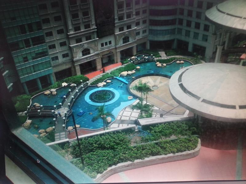 View from the balcony - Hotel living atop Eastwood Mall - Quezon City - rentals