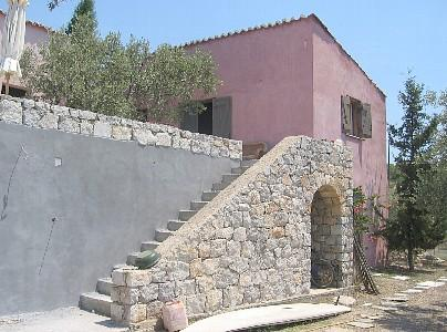 access to the terrace - Secluded Olivegrove House with sea view - Porto Heli - rentals