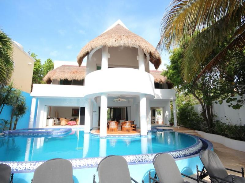 View of the villa from the beach - AH Villa - Akumal - rentals