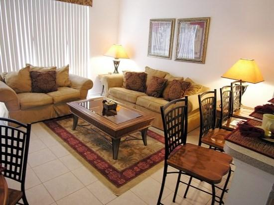 Living Room - WH3T2541RS 3 Bedroom Luxury Town Home in Windsor Hills Resort with Splash Pool - Kissimmee - rentals