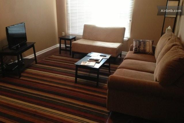 Living room from front door view - Walk or Ride Trolley to Beale Street! - Memphis - rentals