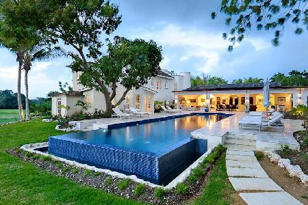 Elegant Casablanca boasts a view of renowned golf course with beach access & pool - Image 1 - Sandy Lane - rentals